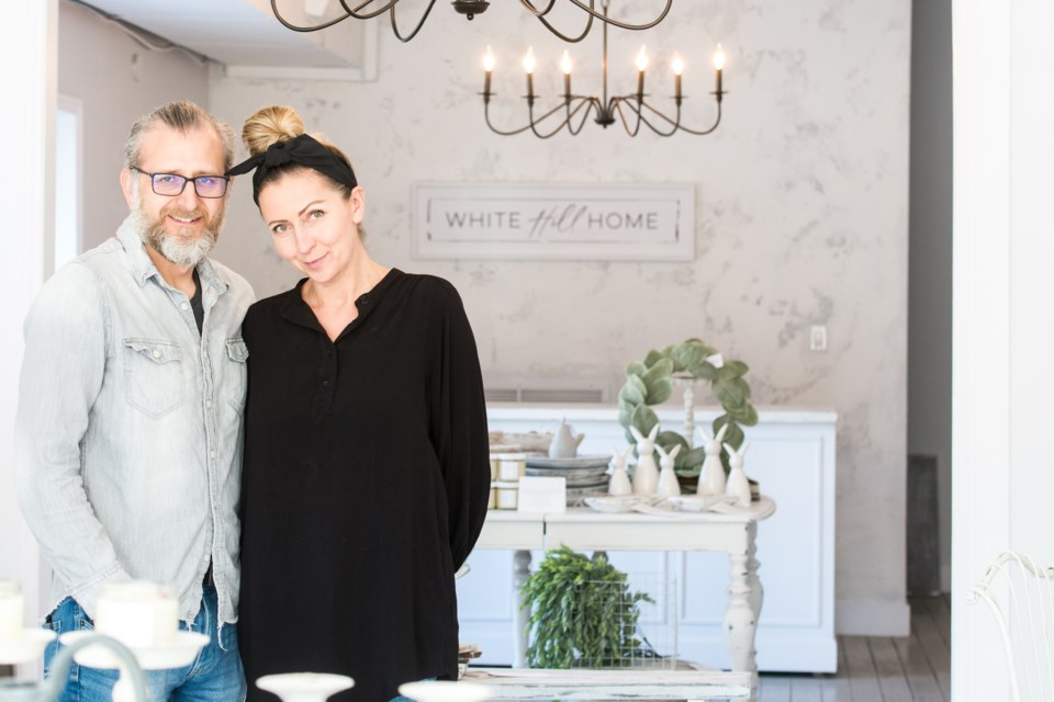 White Hill Home started as a simple side project — a way for Kasia and Adrian Azcurra to express their passion for creative styling.