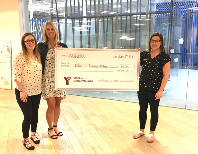 AGNORA Donation to YMCA
