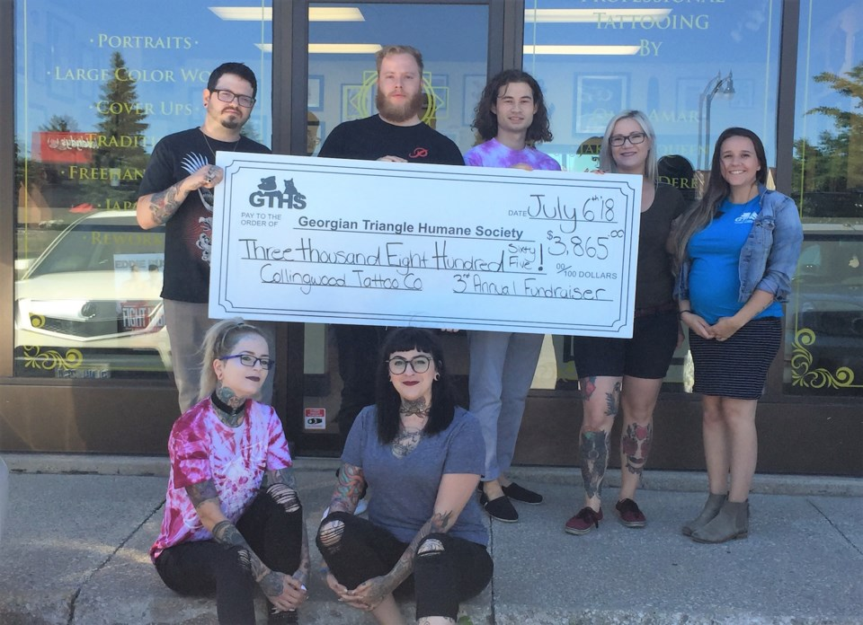 Collingwood Tattoo Co_Cheque Presentation 2018