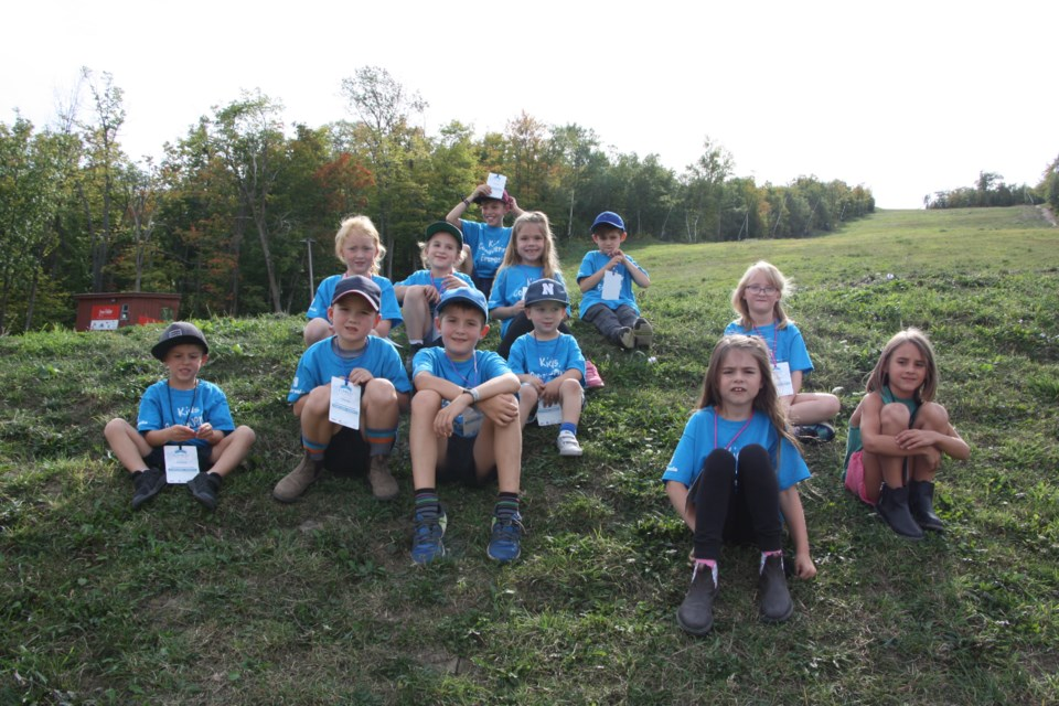 Kids Conquering Everest includes Jayden (8), Avery (6), and Nicholas (3) Kerr, Sam Ainley (5), Haden (8) and Bennett (5) Miller, Jade (7) and Mazi (5) Carscadden, Primrose (6) and Hazlyn (7) Smith , and Barrett Sembay (4). Erika Engel/CollingwoodToday