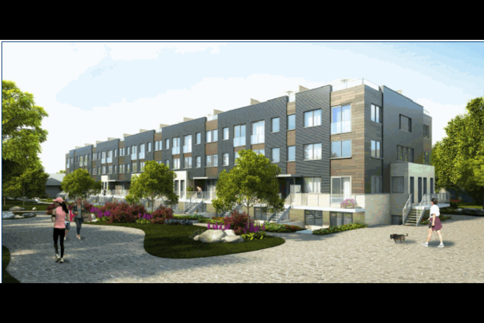 A rendering of stacked townhomes as an example of the proposed units for Panorama North development. Contributed photo