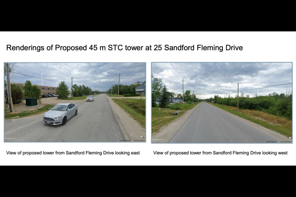 A rendering shows the proposed tower at 25 Sandford Fleming Drive.