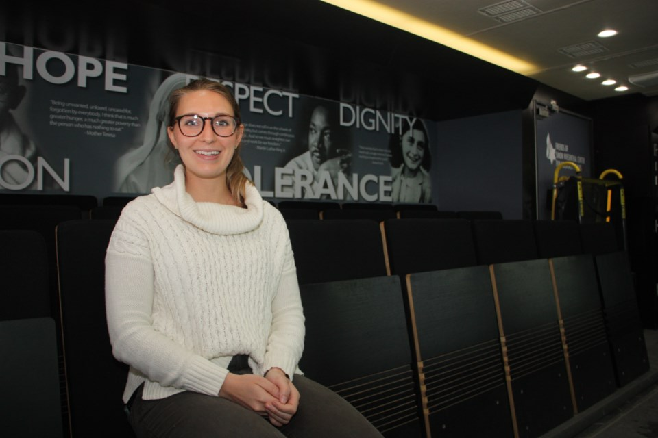Emily Barsanti-Innes was the educator onboard the Tour for Humanity today and delivered a workshop on the Lessons and Legacy of the Holocaust. Erika Engel/CollingwoodToday