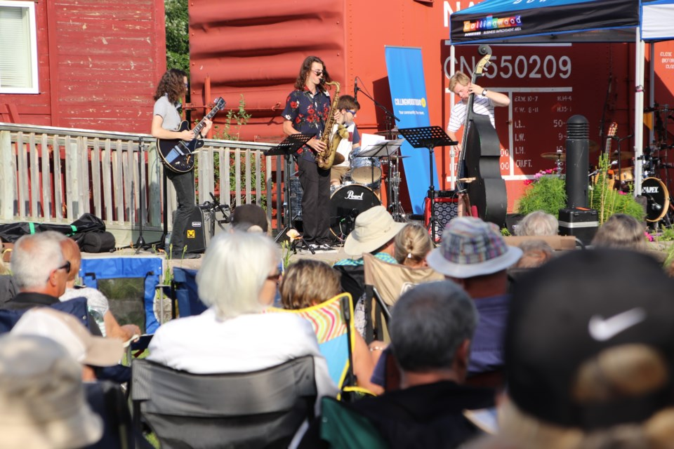 The CCI Jazz ensemble opens at Jazz and Blues at the Station on Aug. 8. Photo by Stuart Snelgrove for CollingwoodToday