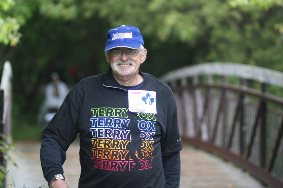 Inspired by Terry Fox, participants in this year's Collingwood event ran through the rainy day and kept smiling. Erika Engel/CollingwoodToday