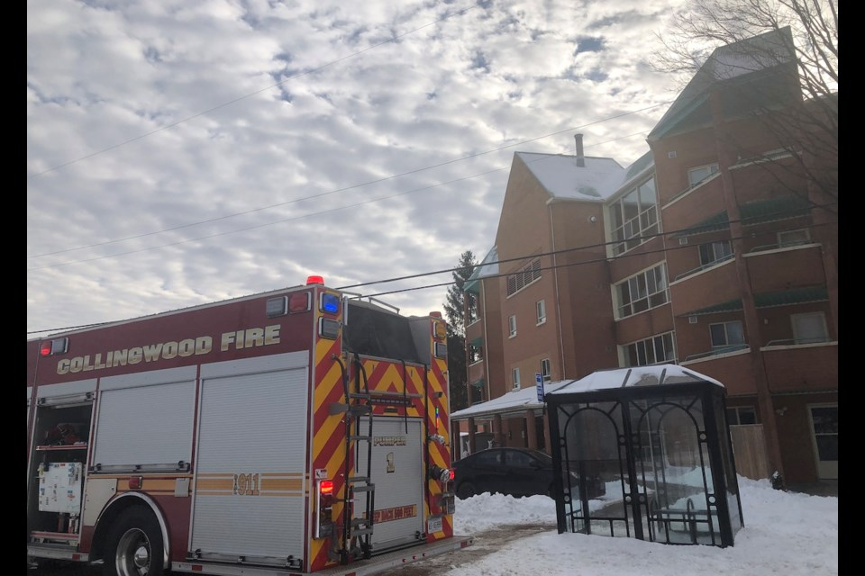 The scene of a fire at Georgian Gables on Tuesday, Dec. 3, 2019. Erika Engel/CollingwoodToday