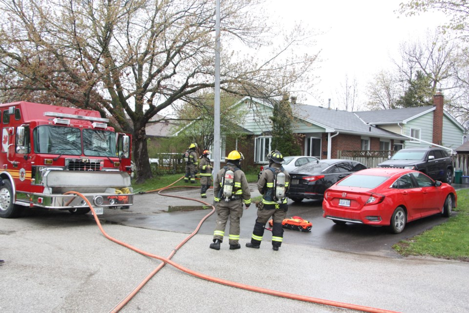Collingwood Fire Department responded to the 911 call along with police and paramedics. No one was injured in the fire.