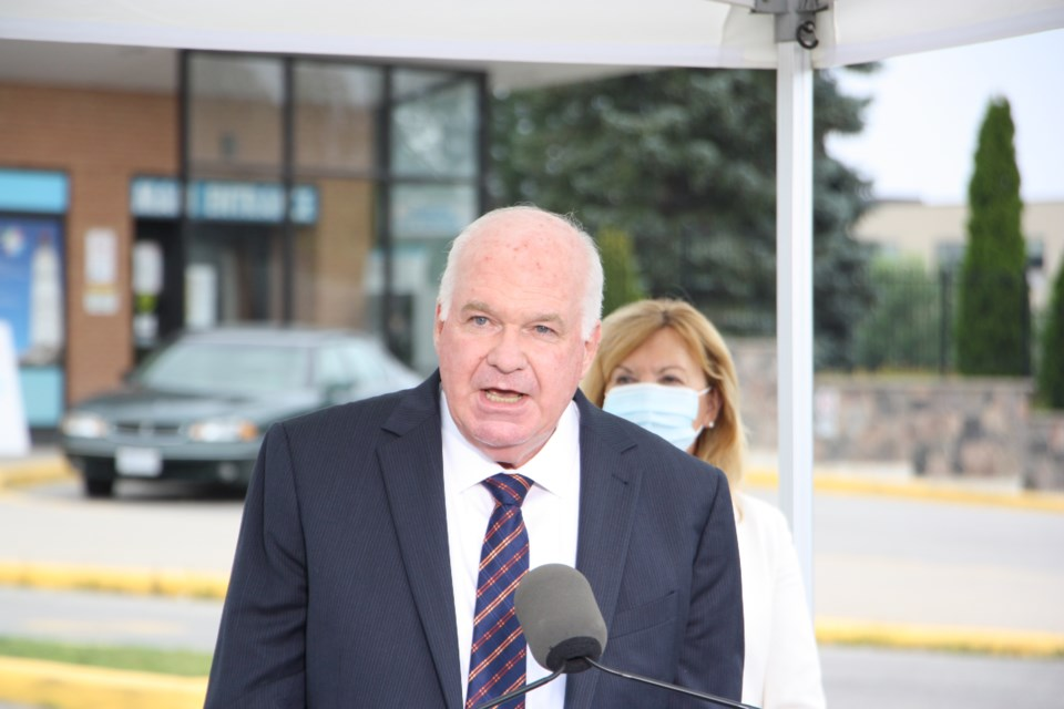 Simcoe-Grey MPP Jim Wilson attended the announcement to say it was a long-time coming and to thank the province for the financial support in the process.