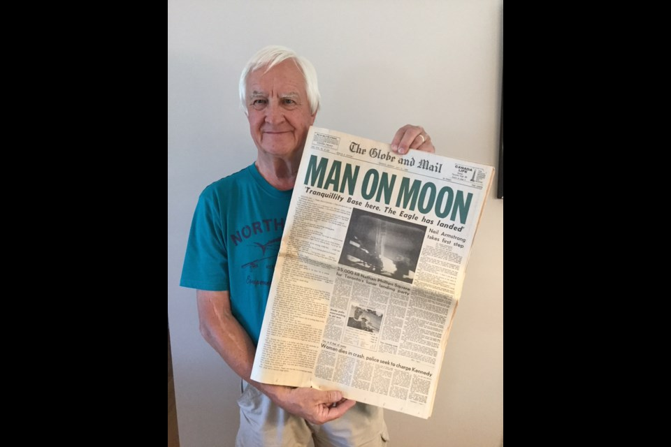 George Czerny was working in Orillia 50 years ago today when Neil Armstrong made his 'giant leap for mankind.' Contributed image