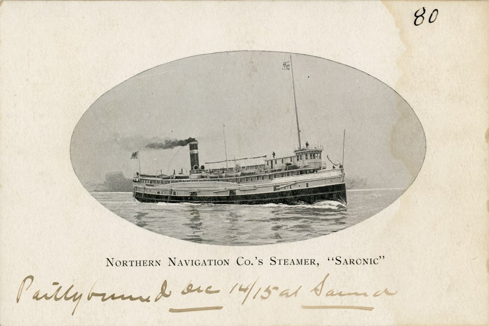 The Saronic was a regular at the Collingwood harbour and so popular it ended up on the Canadian $4 bill. 