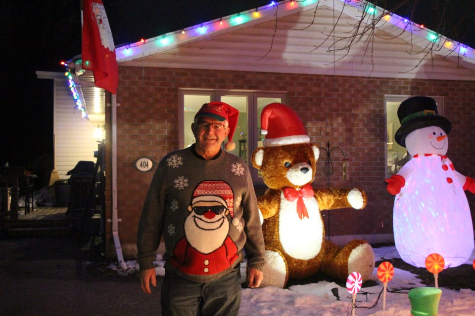 Bill Nicholson has been setting up his Christmas display for close to 20 years. Maddie Johnson for CollingwoodToday