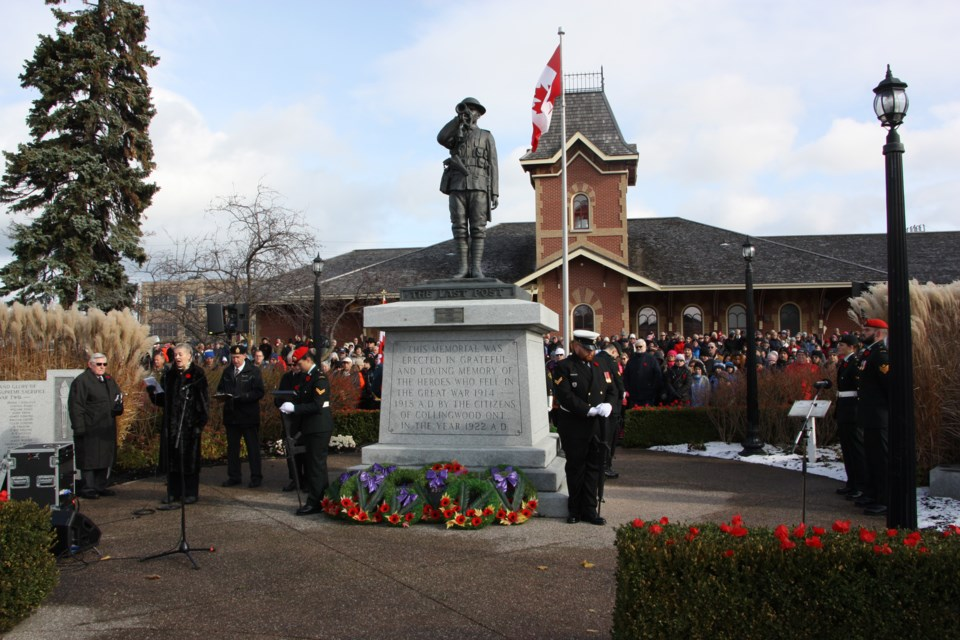 Remembrance Day service Monday at Esplanade