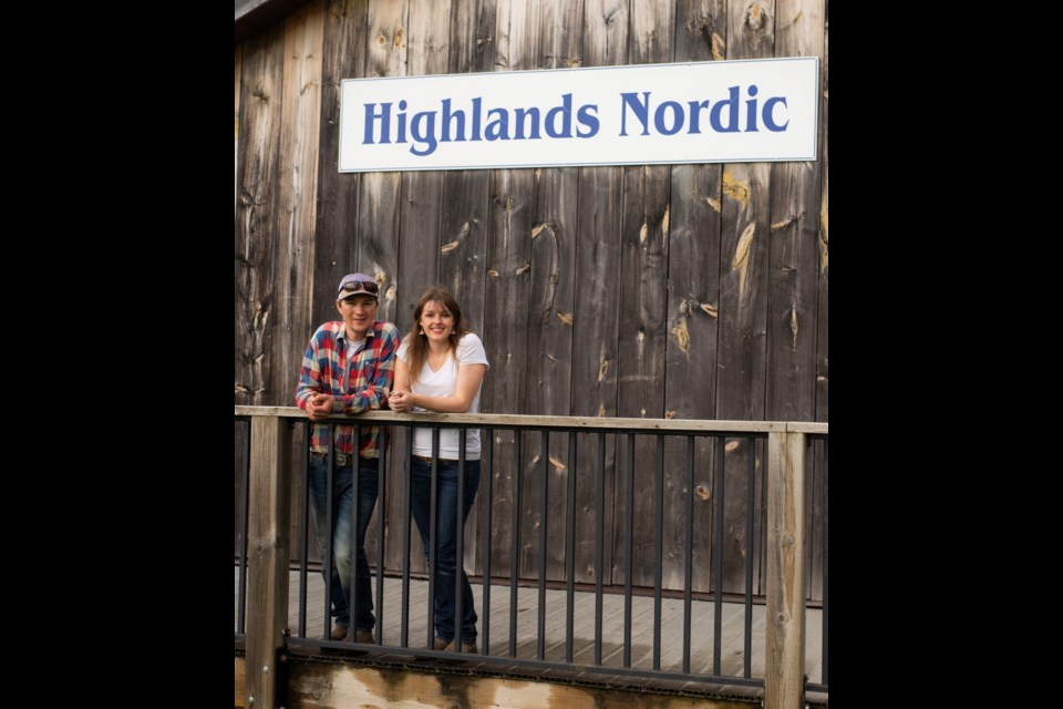 Chanse Dionne and Kelly Sinclair, owners of Highlands Nordic. Contributed photo