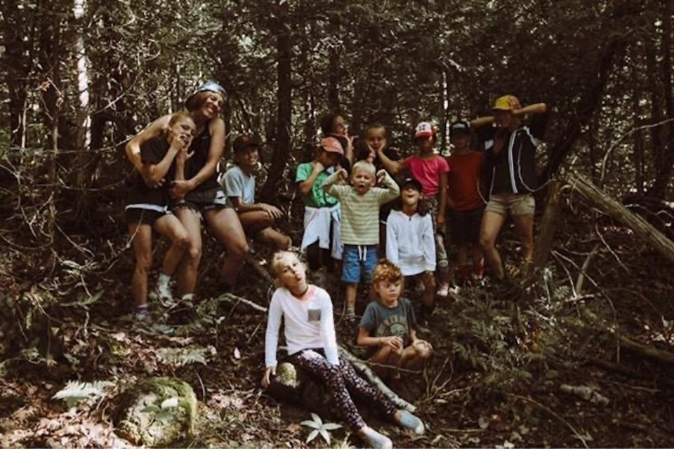 Teaching children about the outdoors at her camp, The Wildlings, is one of the things that inspired Sarah Ney to start the Family Forest Program. Contributed photo