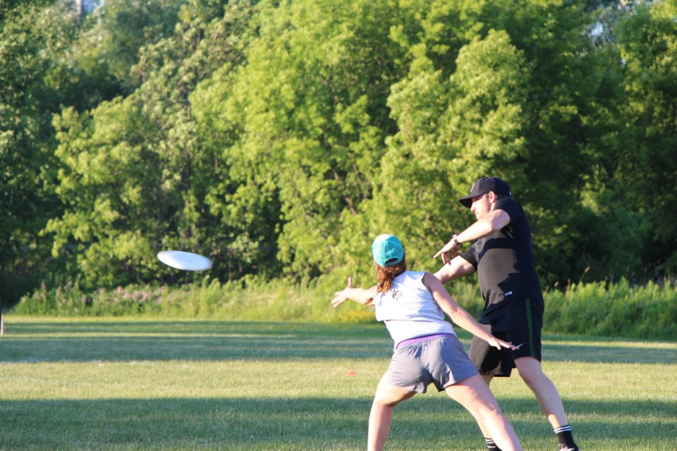 Ultimate frisbee is a co-ed sport with an age range from 16 to 49. Maddie Johnson for CollingwoodToday