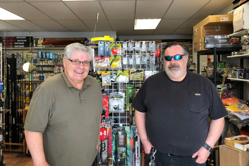 Rick and John Baldry and happy to talk all things fishing at Rick's Happi Hooka, located on First Street in Collingwood. Maddie Johnson for CollingwoodToday