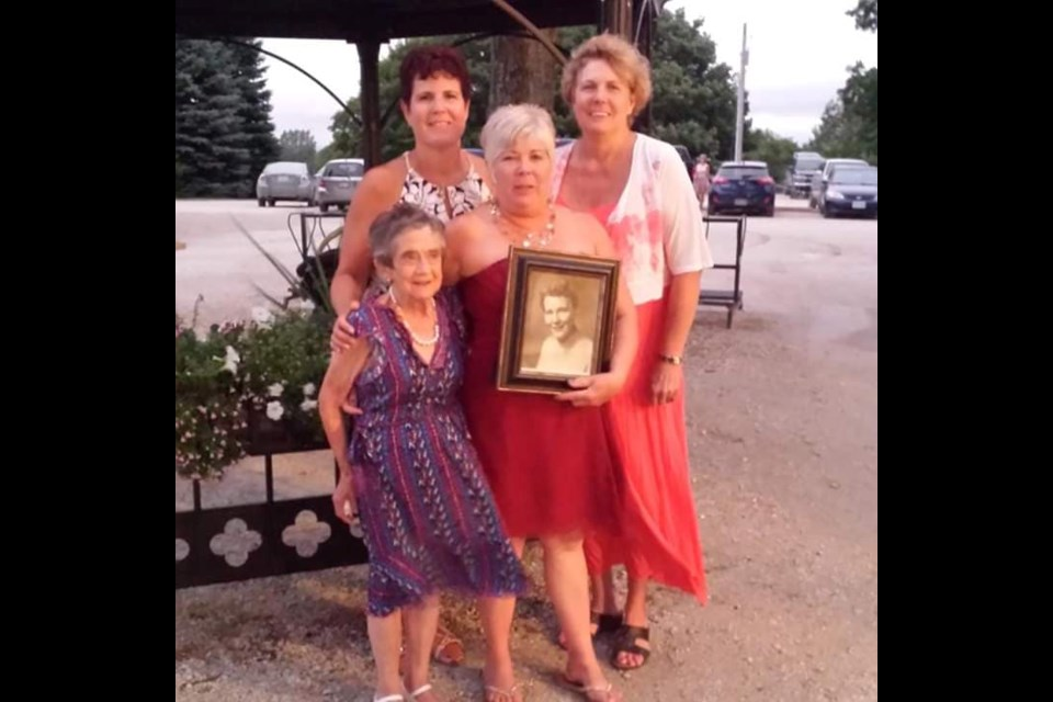 Marion Fenwick with her three nieces, Valerie, Jennifer, and Janet. Photo supplied
