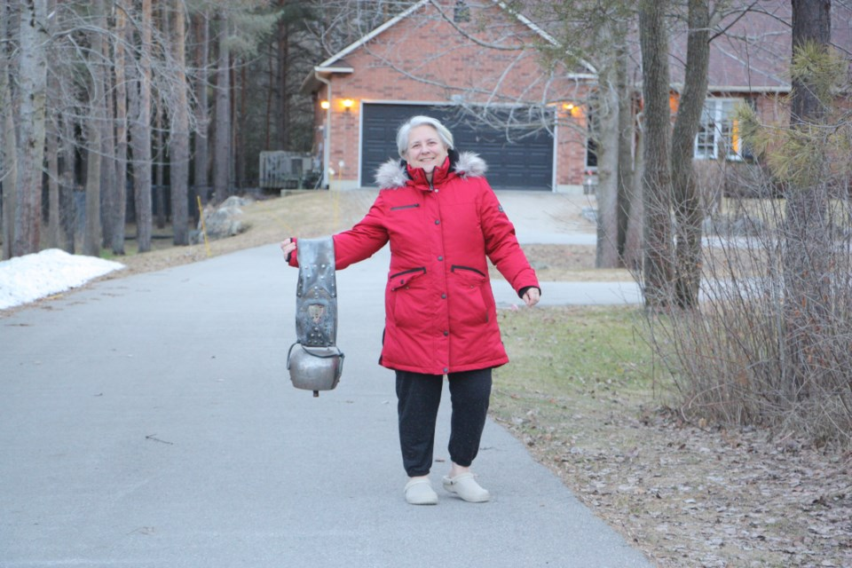 One of the residents in this Collingwood neighbourhood uses a Swiss cowbell to add to the noise on her street every evening at 7:30 p.m. Erika Engel/CollingwoodToday