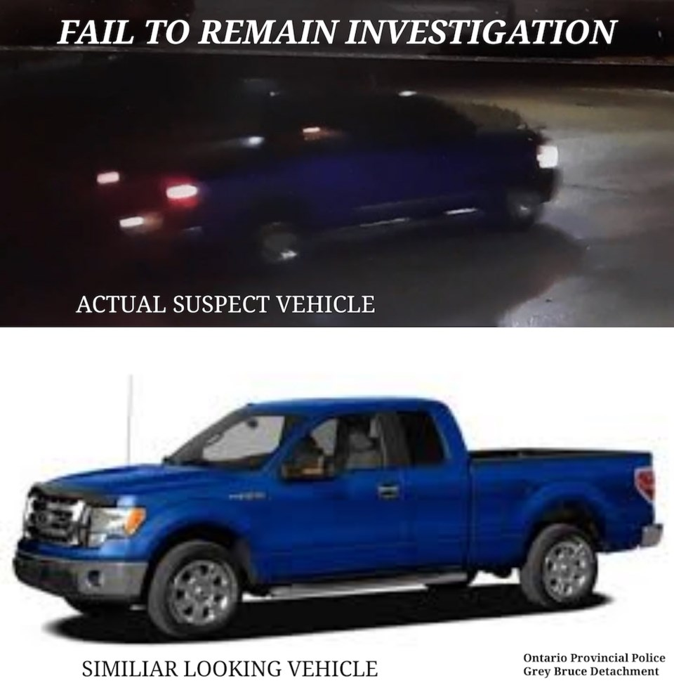 2020-01-13 Meaford collision suspect vehicle