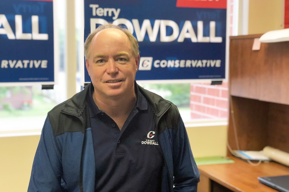 Terry Dowdall is the Conservative Party of Canada candidate for Simcoe-Grey. Erika Engel/CollingwoodToday