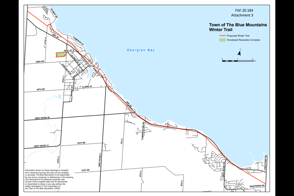 TBM plans to groom the entire length of the Georgian Trail under its control - from Cristie Beach sideroad to Grey Road 21. Contributed photo.