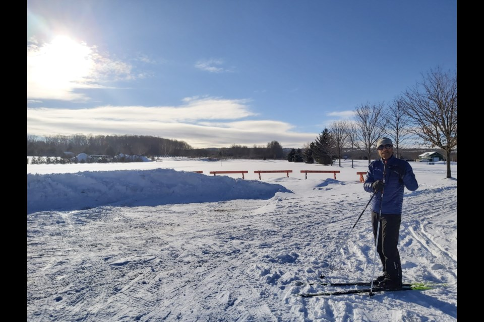 Walter, who lives close to the Tomahawk Golf Course has been out on the trail three times this year. He is an avid downhill skier who has taken up cross-country skiing this season. Jennifer Golletz/ CollingwoodToday