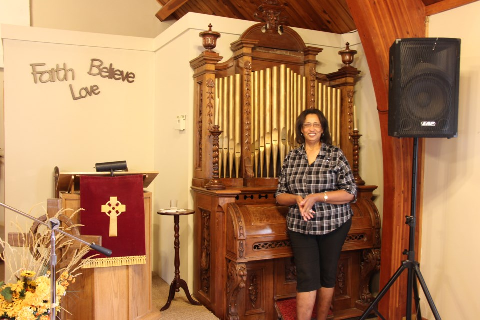 Sylvia Wilson at Heritage Community Church in Collingwood. Maddie Johnson for CollingwoodToday