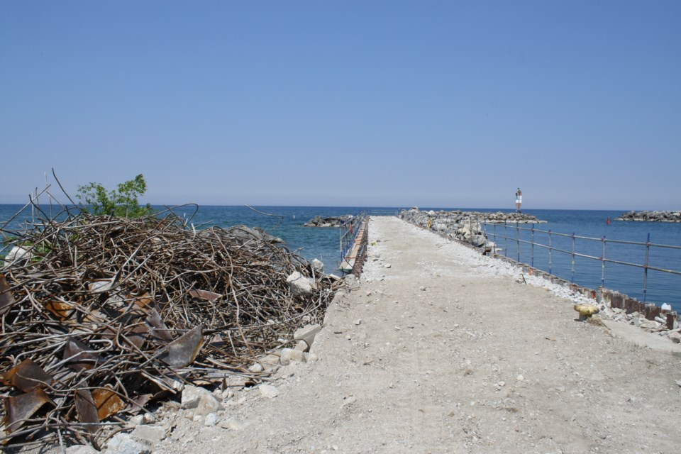 The current state of the Thornbury Pier as of June 9.