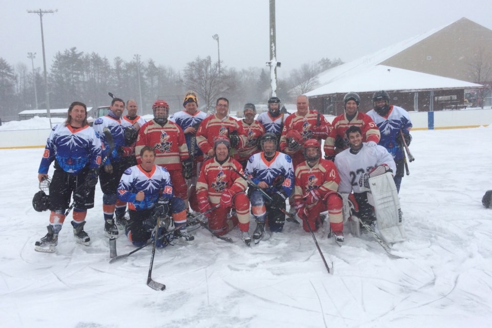 Saturdays snowstorm didn't slow the players down. Contributed photo