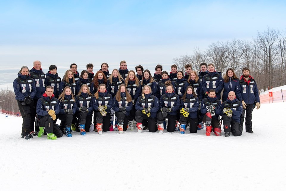 The National Ski Academy team photo, 2018/19. Contributed photo