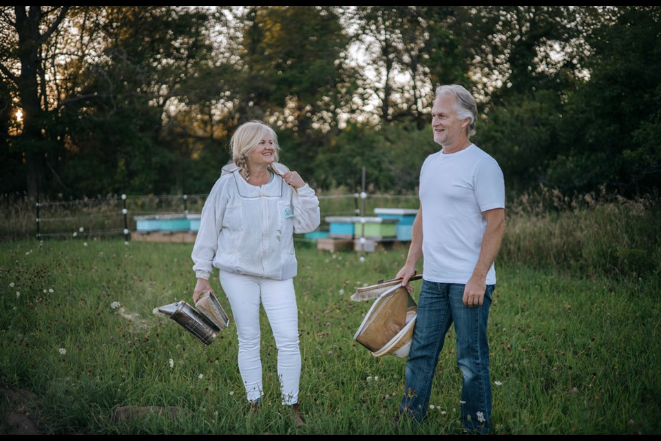 Debbie Gray and Jeff Chalmers founded Heritage Bee Co. in 2016.