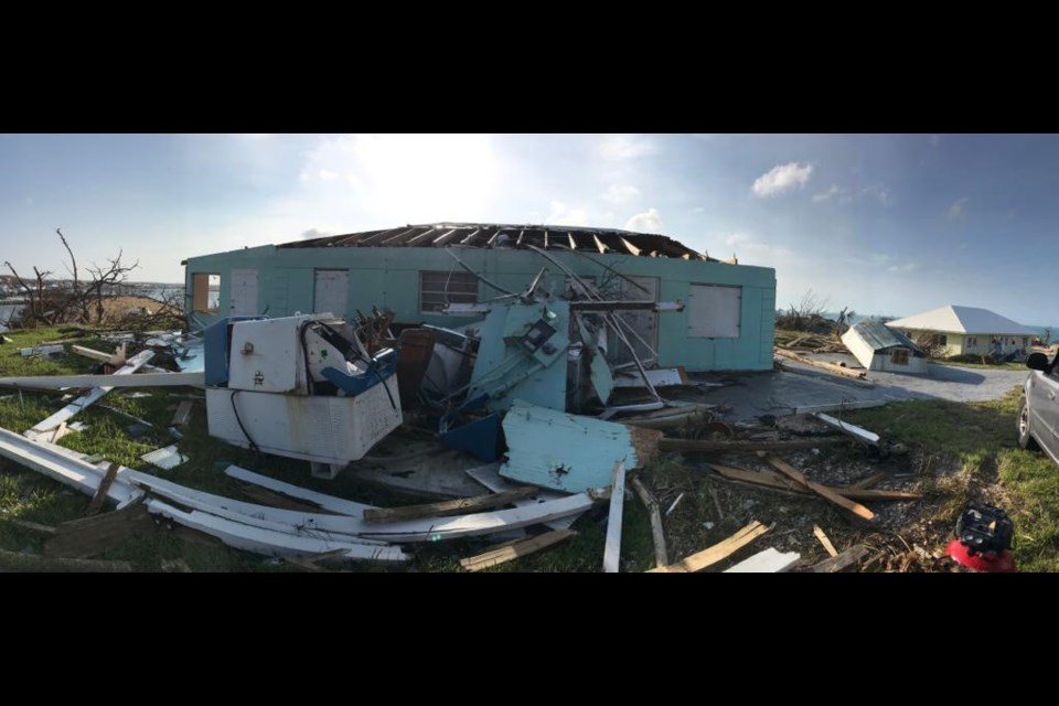 This is what's left of the home where Brianna Hepburn, her husband Frankie, and her son, Gunner lived. They were in the home for the first half of Hurricane Dorian. Contributed photo