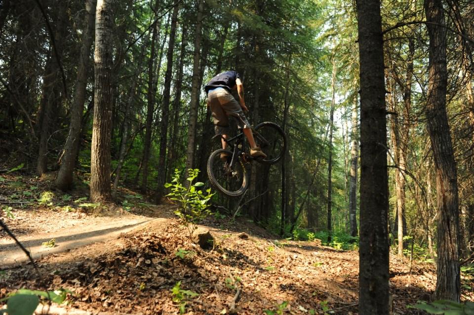 Grande Prairie AB Nitehawk bike trails huck 2 JDerksen