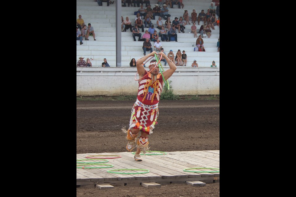 World Champion Hoop Dancer Dallas Arcand to perform at the Dawson Creek Exhibition & Stampede Thursday and Friday before the chuckwagons.