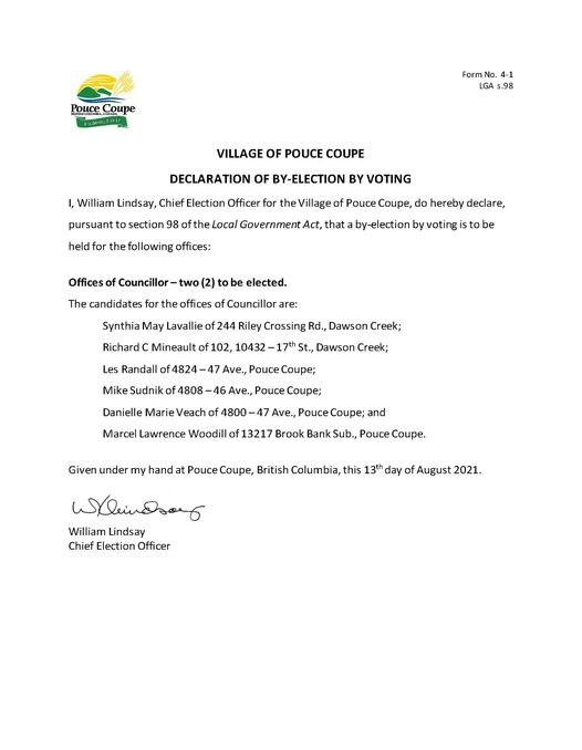 Pouce by election