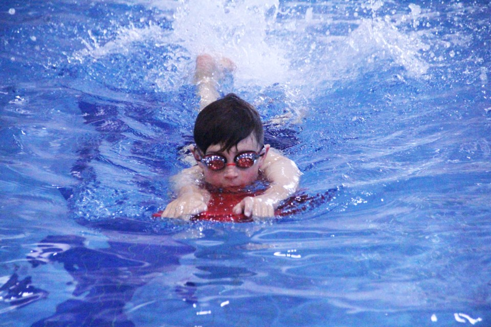 Madden Green cruises through the water during a Seals practice for kids aged nine to 12 on June 2.