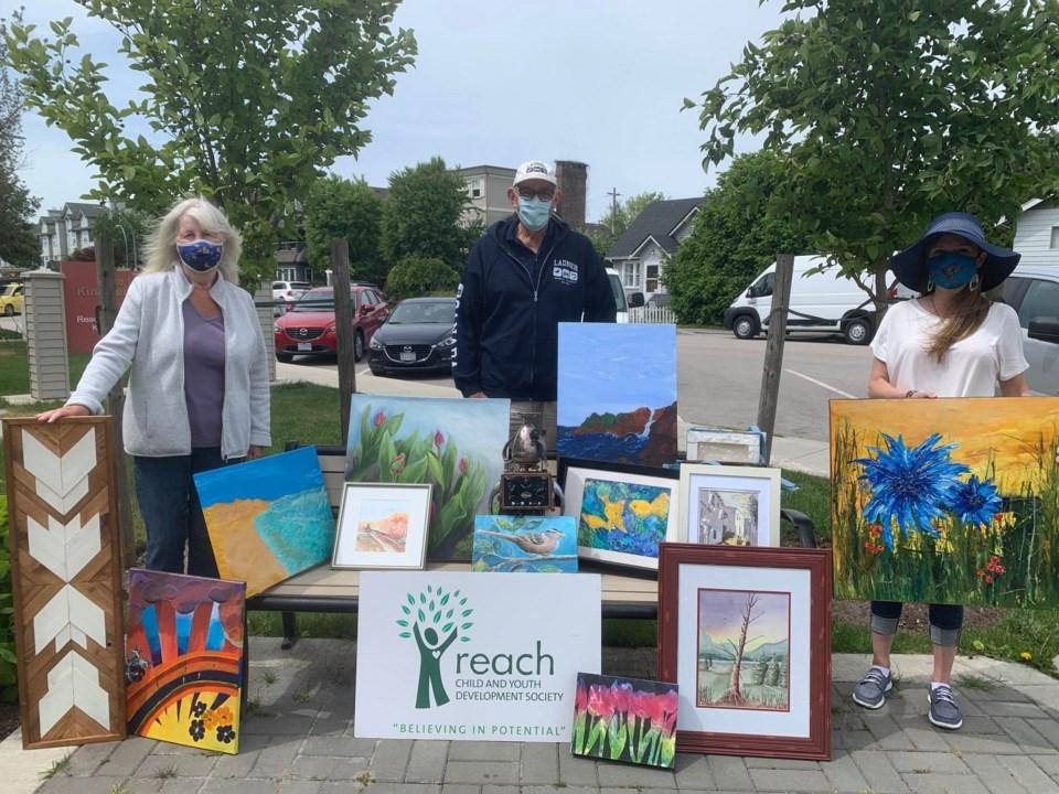 Reach art fundraiser