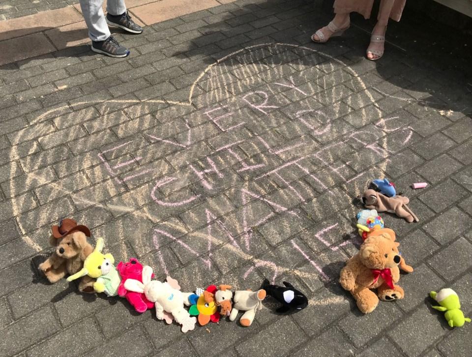 delta memorial for first nations children in kamloops