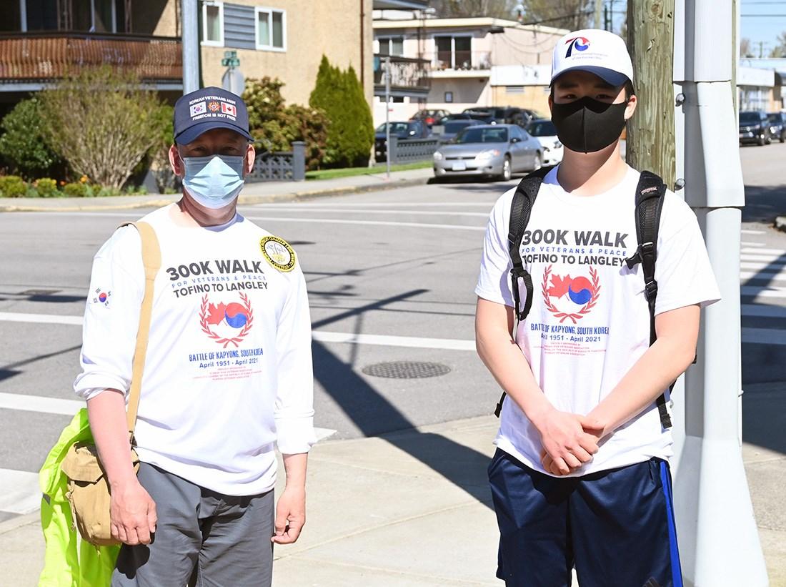 300-kilometre walk to honour Korean War veterans makes Ladner stop