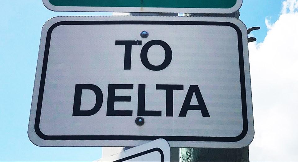 city of delta sign photo