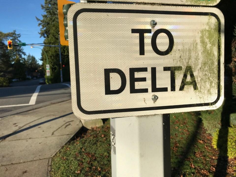 City of Delta sign