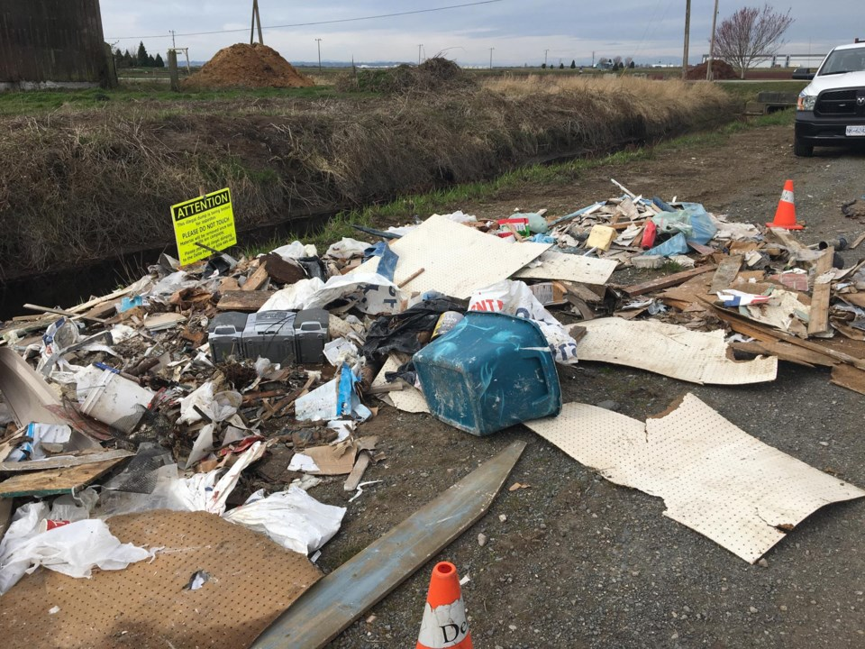 illegal dumping in the city of delta, bc
