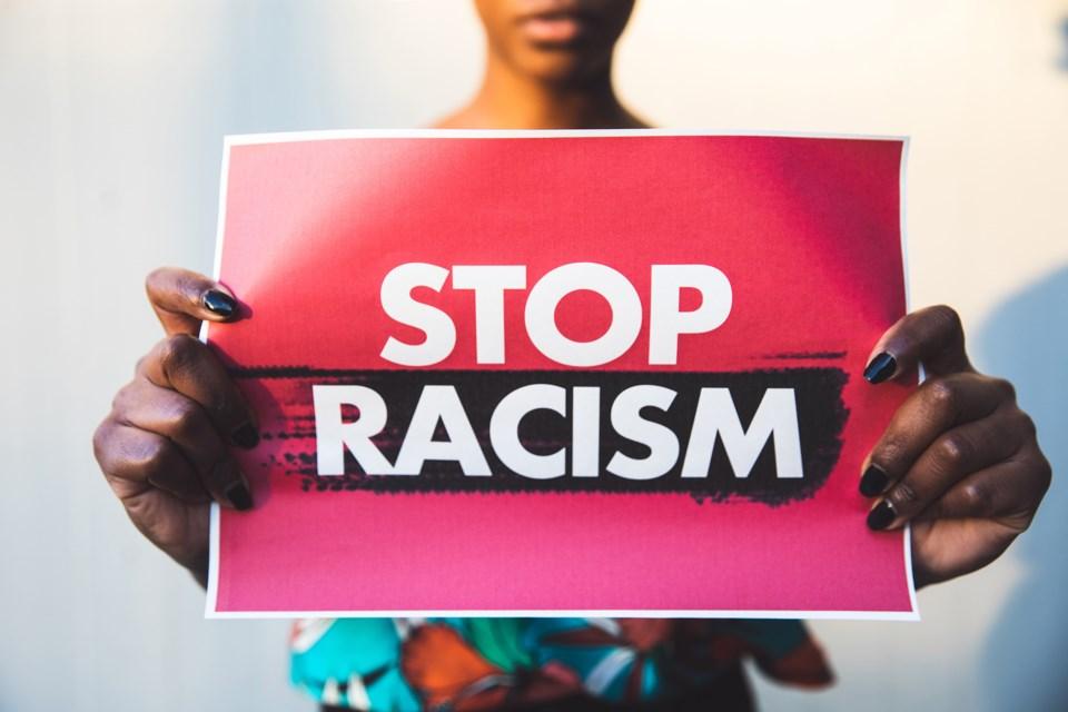 Stop racism poster