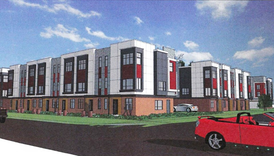 townhouse application across from north delta secondary rejected by council for its design