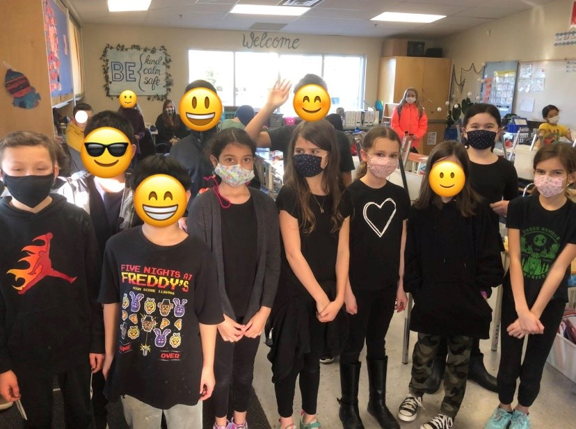 Students at Neilson Grove elementary participated in Black Shirt Day last Friday.