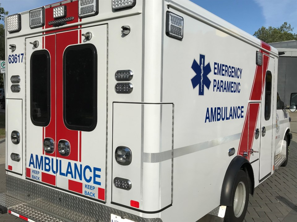 bc ambulance in the city of delta