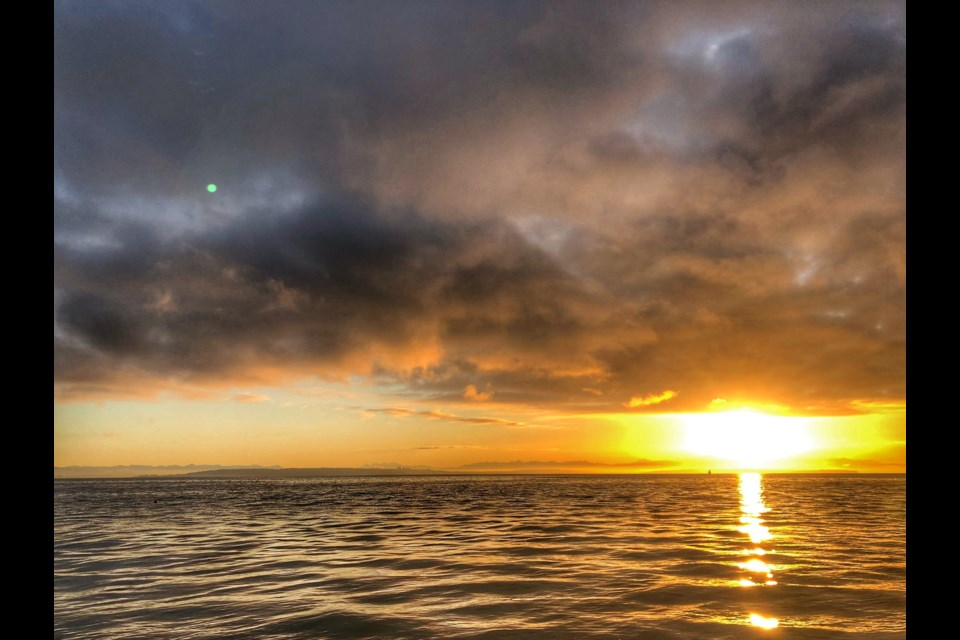 Tsawwassen resident Peter Scurr captured these photos Wednesday morning in Boundary Bay.