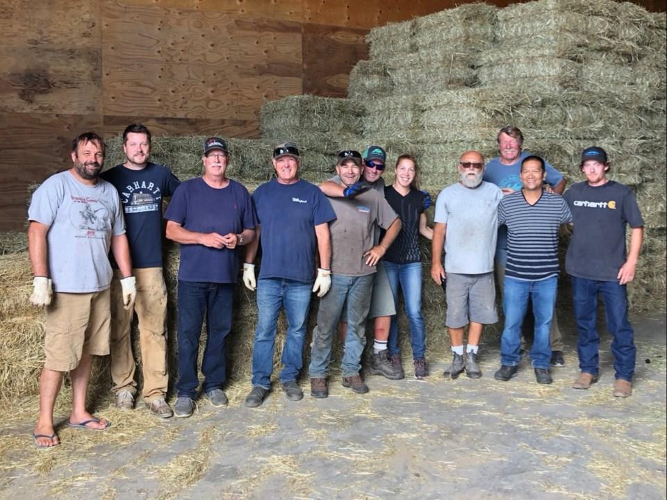 Delta farmers hay donation