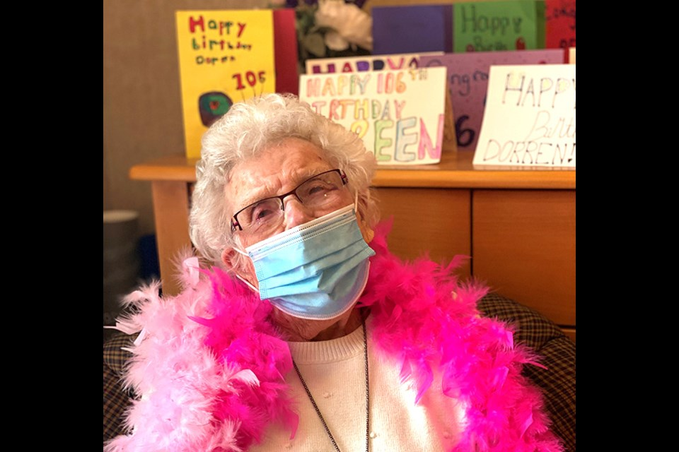 Waterford resident Doreen Ferguson received plenty of well-wishes for 106th birthday on Wednesday including Prime Minister Justin Trudeau.