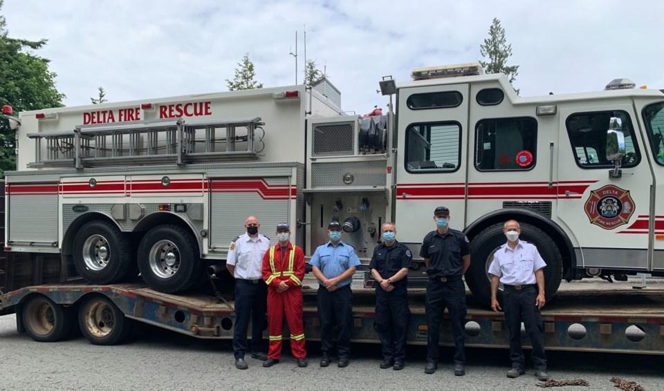 Delta fire wildfire crews